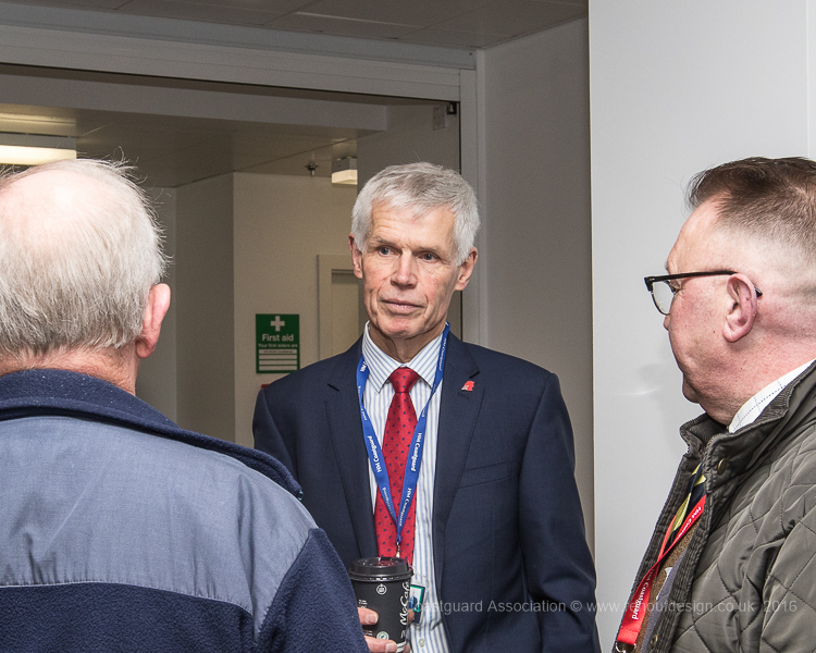 Pre-meeting registration at the National Maritime Operations Centre with Sir Alan Massey